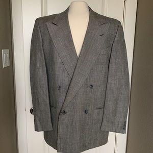 Valentino herringbone suit jacket
